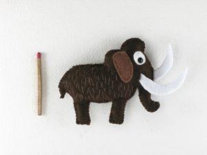Magnet mammouth en feutrine